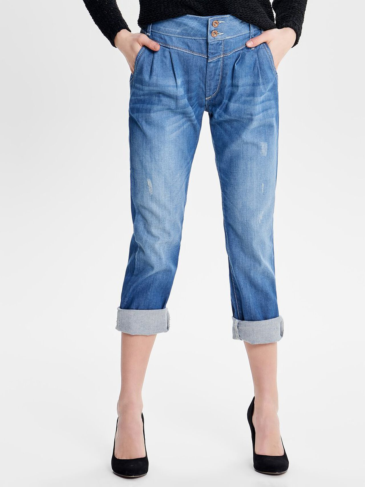ONLY Lala Ankle Straight Fit Jeans Dames Blauw