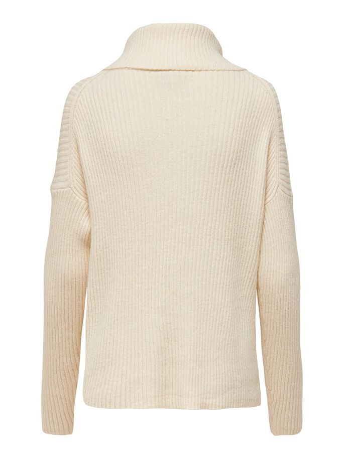 MAMA COWLNECK KNITTED PULLOVER, Whitecap Gray, large