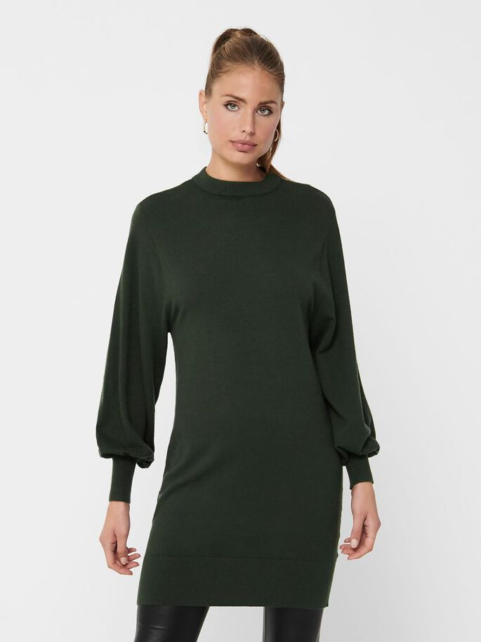 LONG SLEEVED KNITTED DRESS, Rosin, large