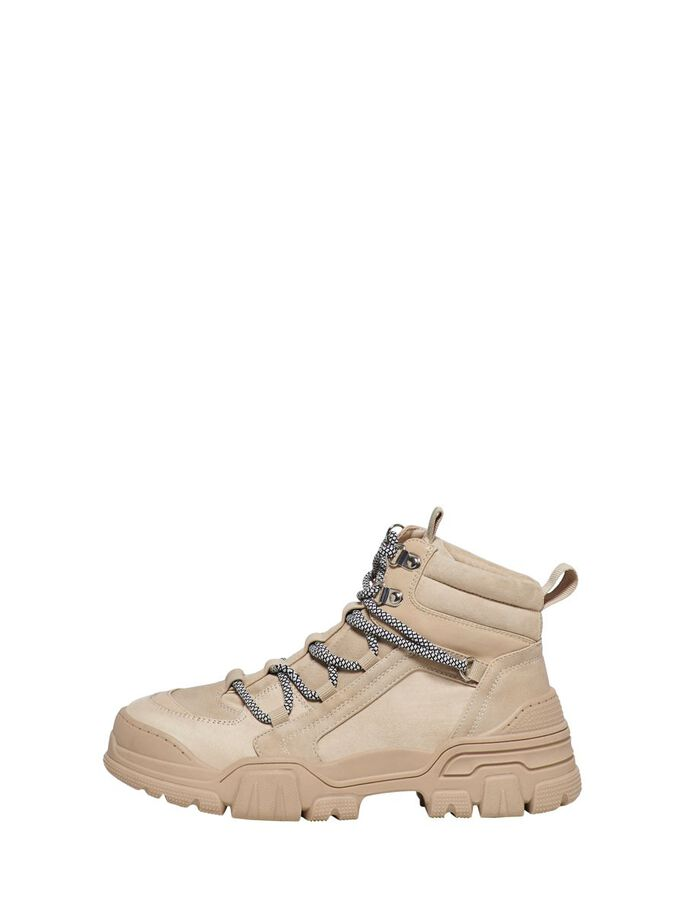 LACE UP BOOTS, Sand, large