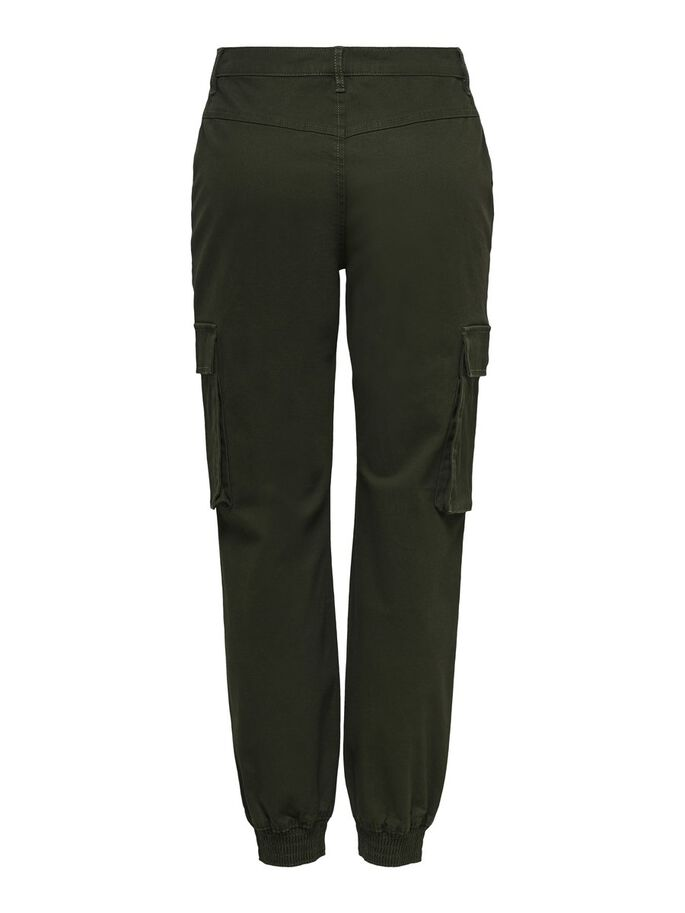 SOLID COLORED CARGO TROUSERS, Rosin, large