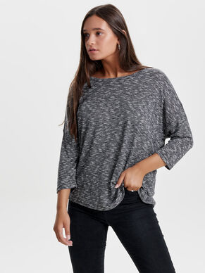 KNITTED 3/4 SLEEVED TOP