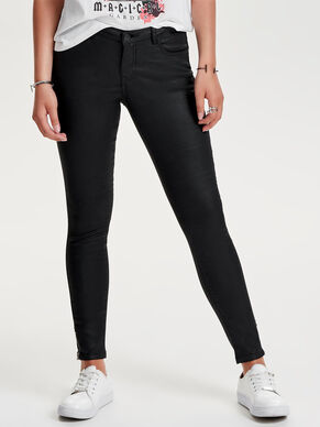 DALLAS REG ANKLE COATED SKINNY FIT JEANS