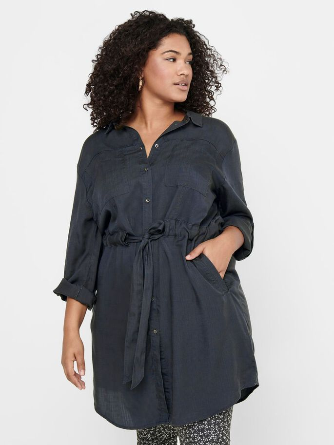 CURVY SHIRT DRESS, Asphalt, large