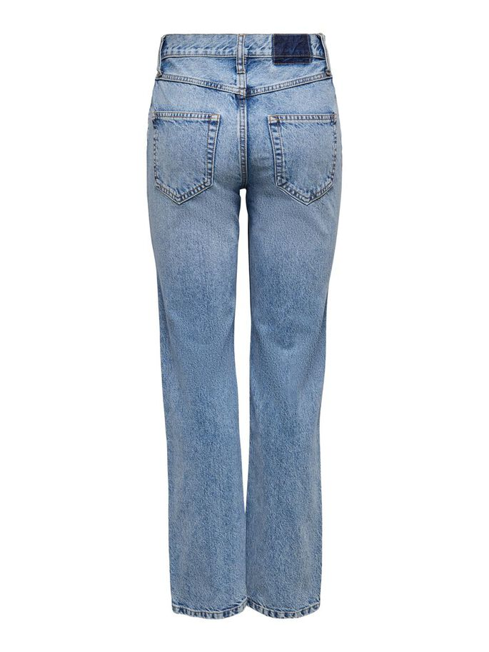ONLELLA LIFE HW JEAN DROIT, Light Blue Denim, large