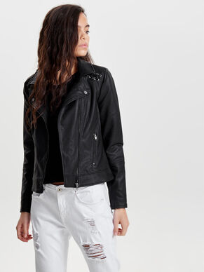 FAKE LEATHER FAUX LEATHER JACKET