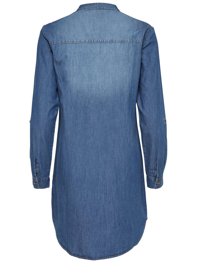 DE CORTE HOLGADO VESTIDO VAQUERO, Medium Blue Denim, large
