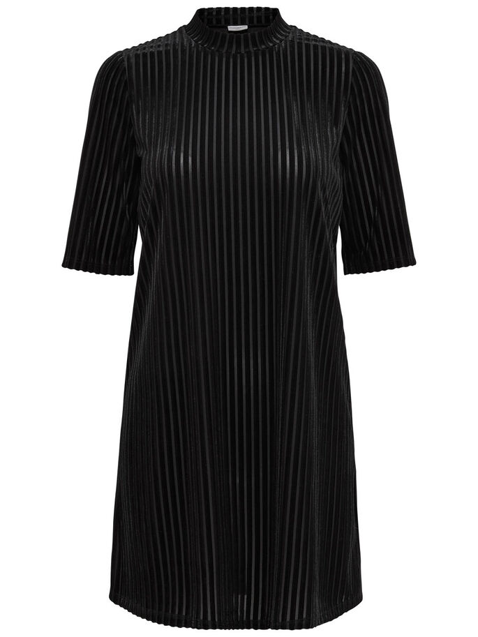 COL MONTANT ROBE, Black, large