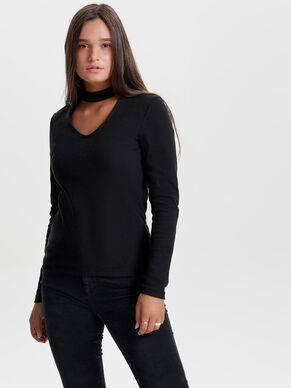 CHOKER LONG SLEEVED TOP
