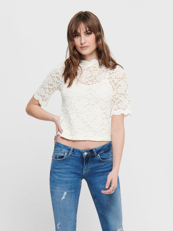 LACE TOP, Cloud Dancer, large