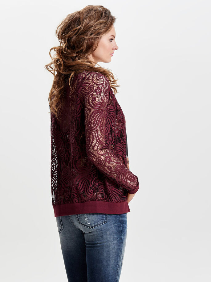 LACE BOMBER JACKET, Sassafras, large