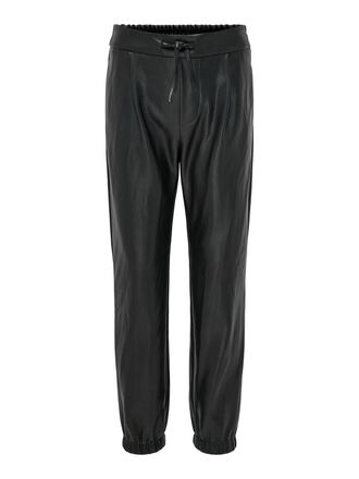 POPTRASH LEATHER LOOK TROUSERS