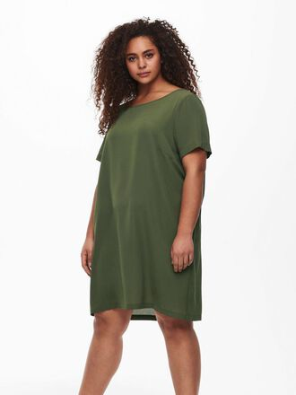 CURVY SOLID COLOR DRESS
