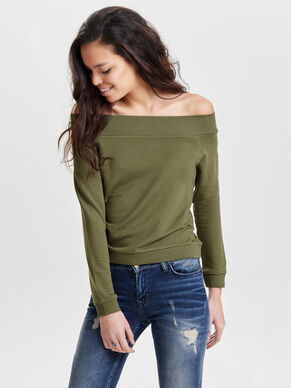 OFF-SHOULDER- SWEATSHIRT