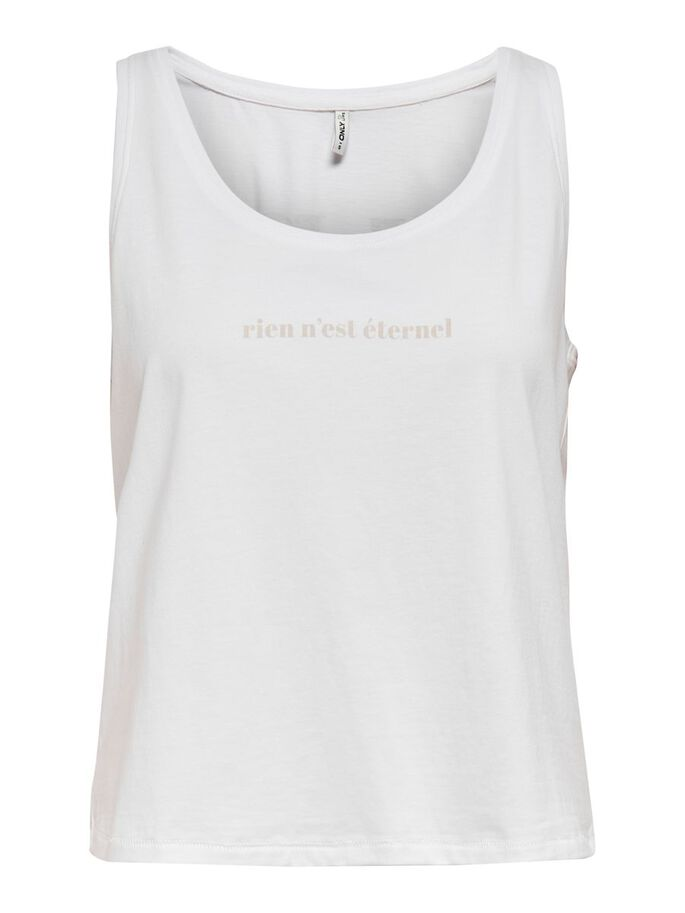 PRINTED TOP, Bright White, large