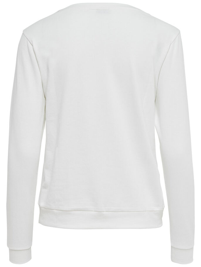 BEDRUCKTES SWEATSHIRT, Cloud Dancer, large