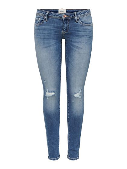 PETITE ONLCORAL SKINNY LOW-RISE JEANS