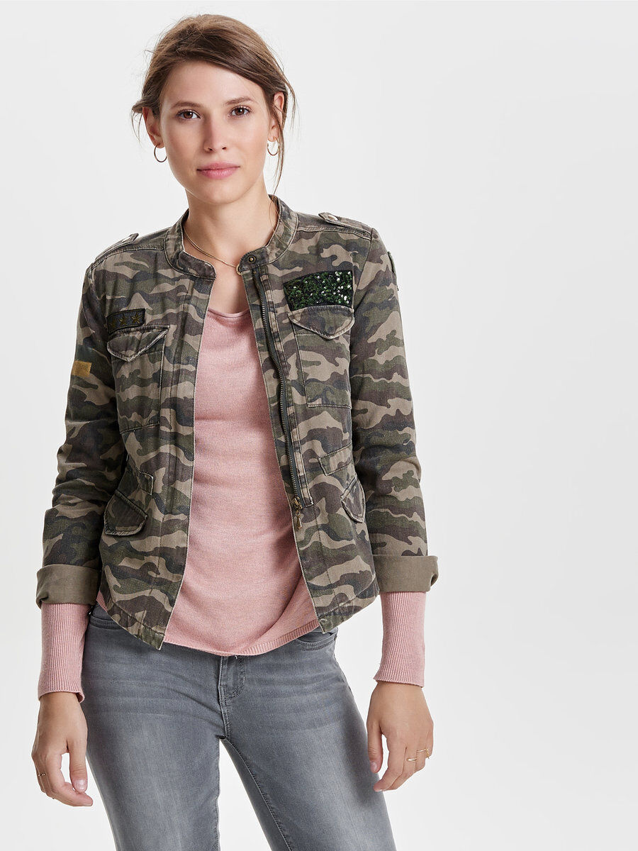 Only jeans jacke camouflage