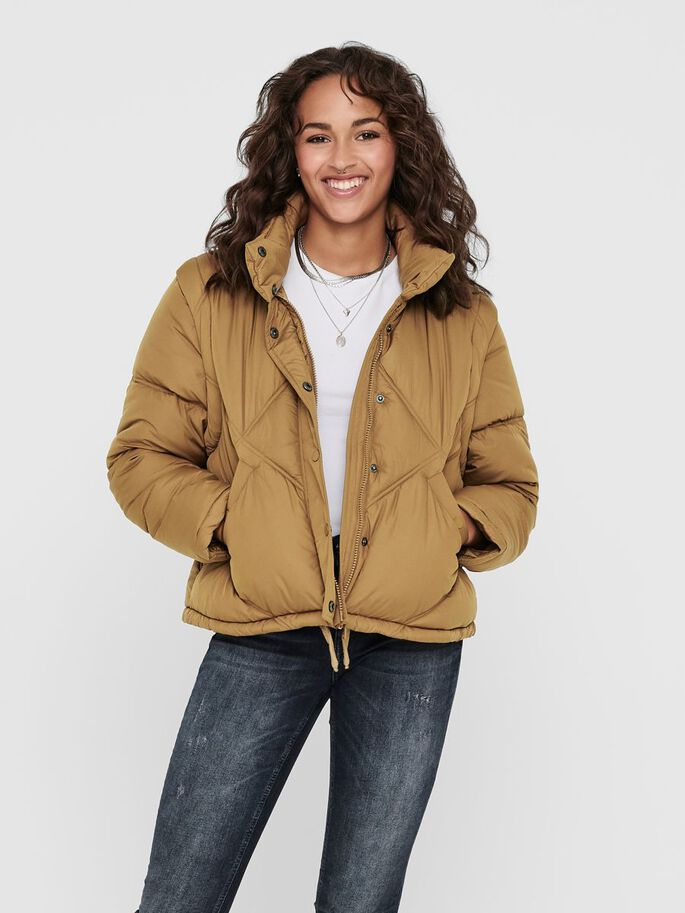 DETAILREICHE STEPPJACKE, Toasted Coconut, large