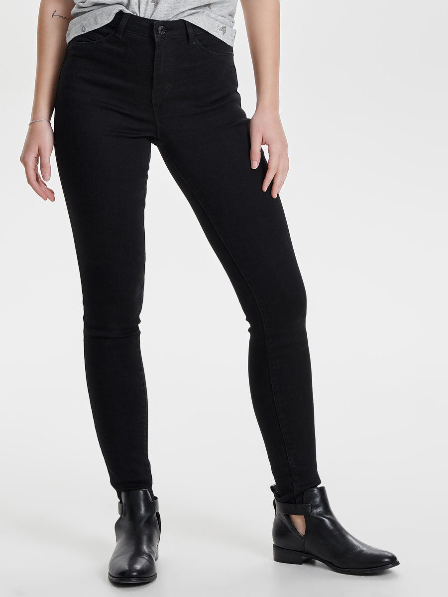 High waist jeans schwarz only