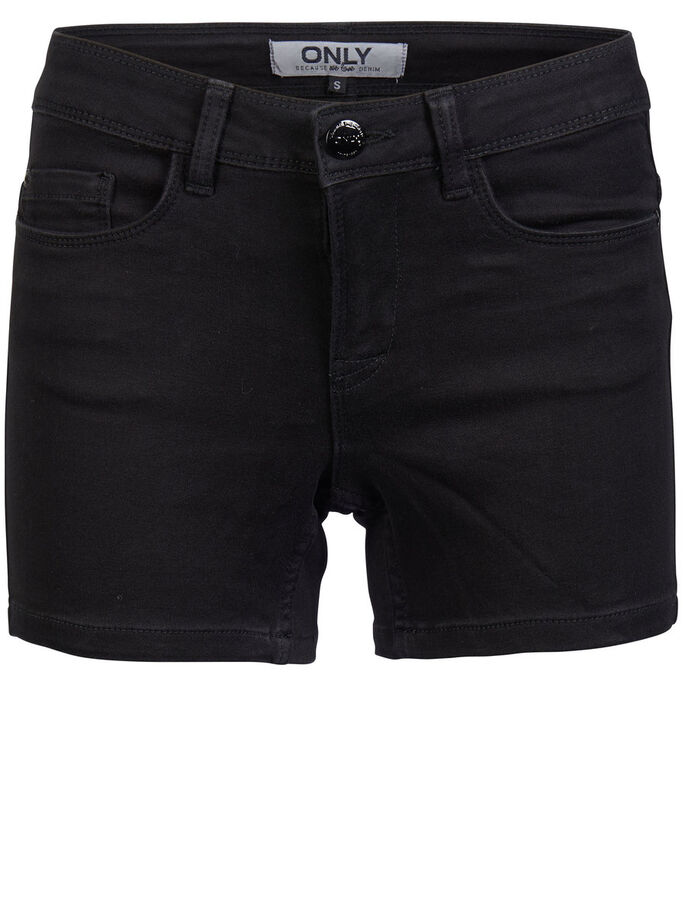 ULTIMATE SOFT DENIM SHORTS, Black, large