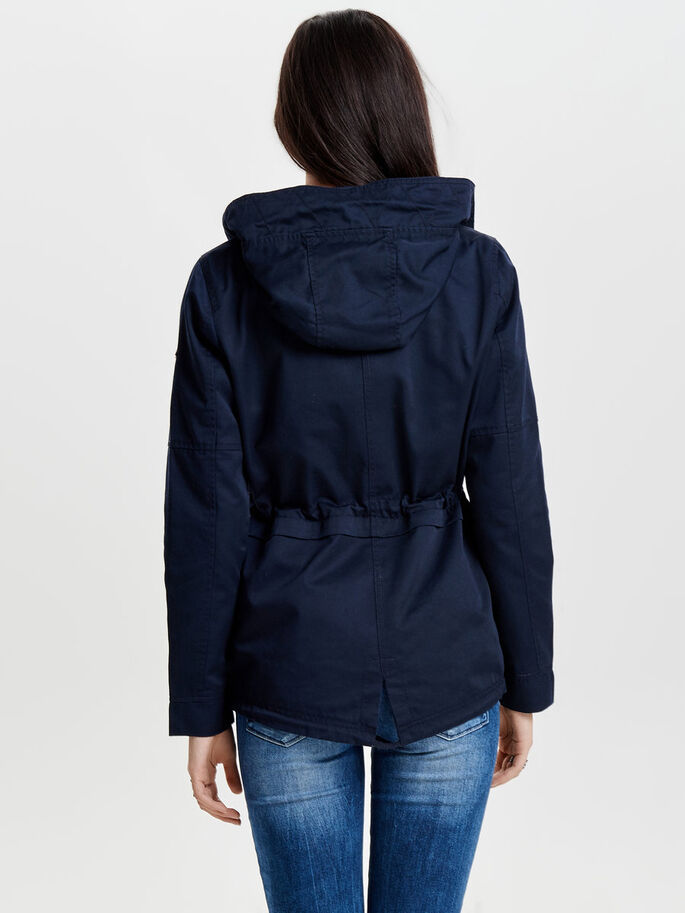 VÅR PARKAS, Blue Graphite, large
