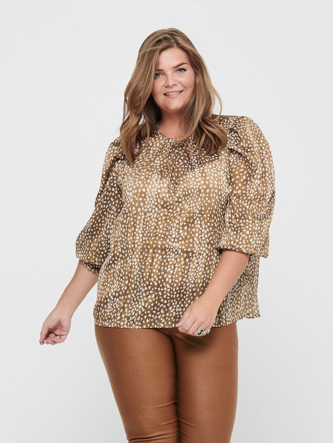 CURVY SMOCK TOP, Toasted Coconut, large