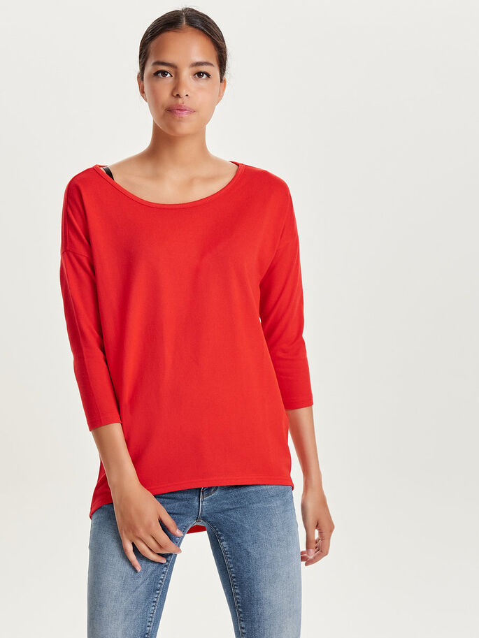 PAILLETTES SWEAT-SHIRT, Flame Scarlet, large