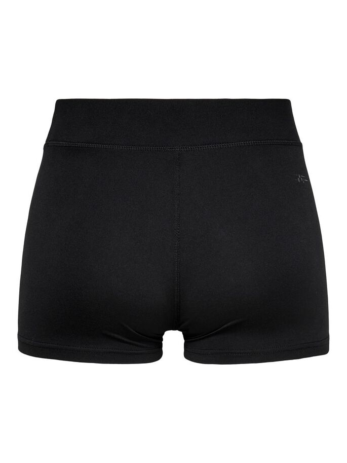 TIGHT FITTED SHORTS, Black, large