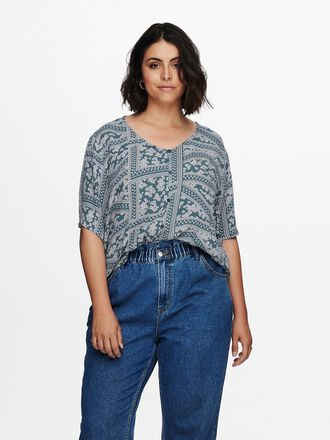 CURVY PRINTED SHORT SLEEVED SHIRT