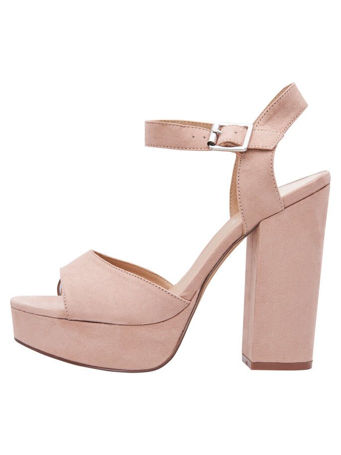 HIGH HEELED SANDALS, Nude, large