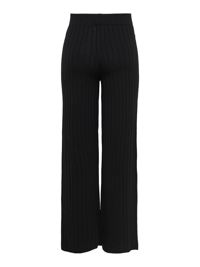KNITTED TROUSERS, Black, large