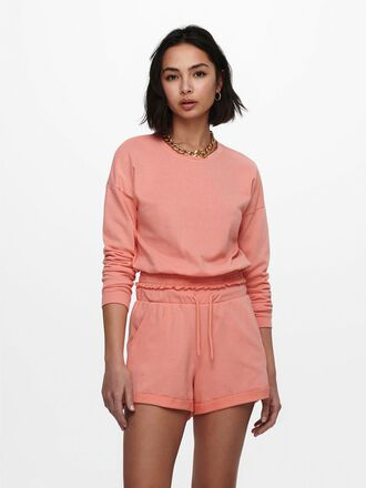CROPPED SMOCK DETAIL SWEATSHIRT