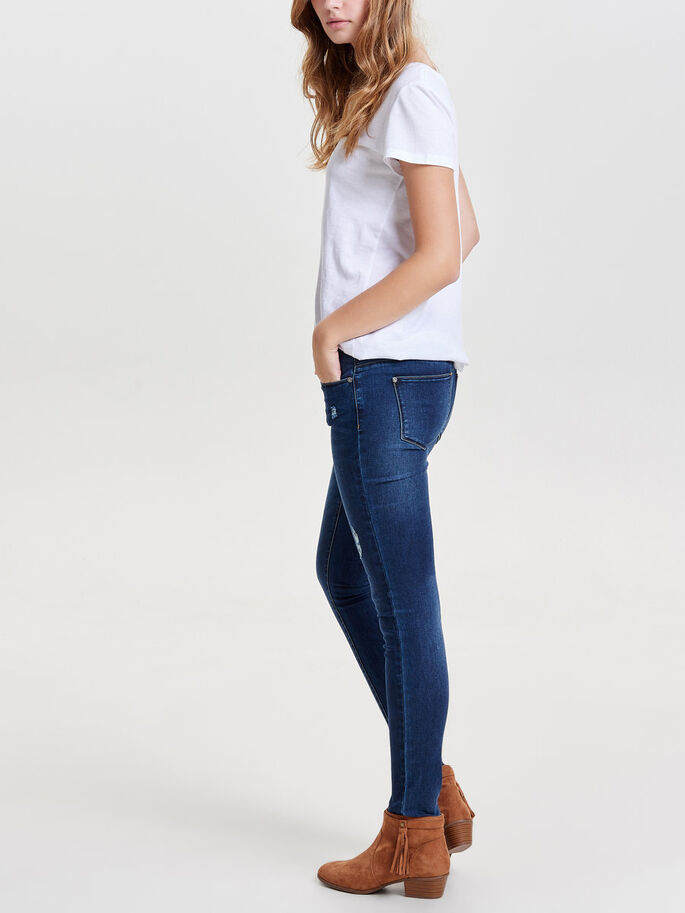 CORAL SL JEAN SKINNY, Dark Blue Denim, large