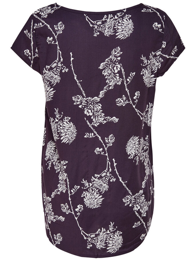 PRINTED SHORT SLEEVED TOP, Nightshade, large
