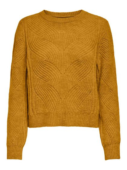 MAMA SOLID COLORED KNITTED PULLOVER