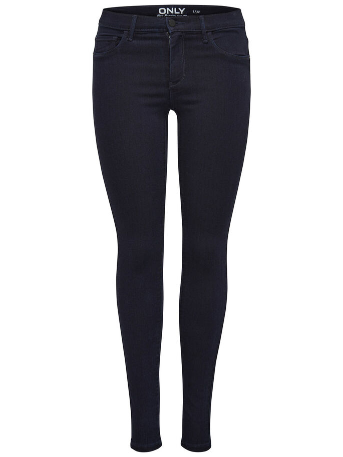 RAIN REG SKINNY FIT JEANS, Dark Blue Denim, large