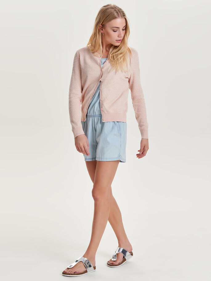 KURZE STRICK-CARDIGAN, Peach Whip, large