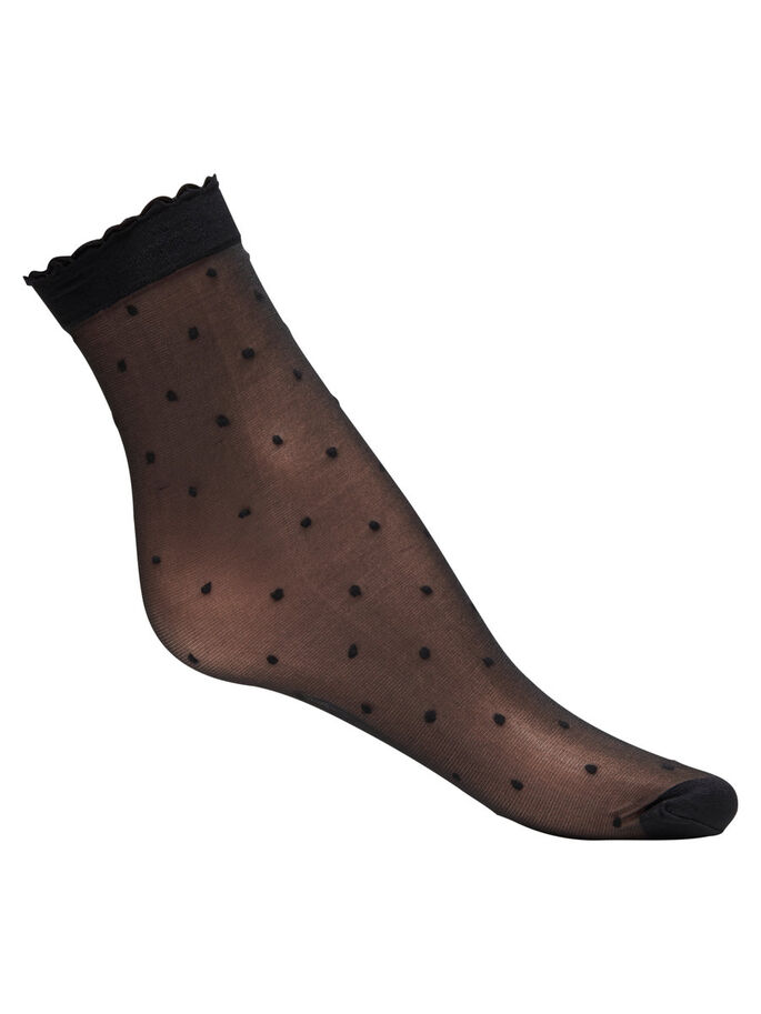 NYLON CHAUSSETTES, Black, large