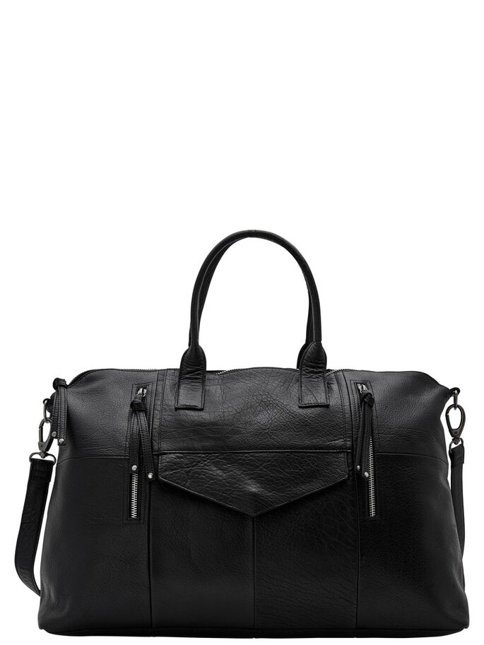 LEREN WEEKENDTAS, Black, large