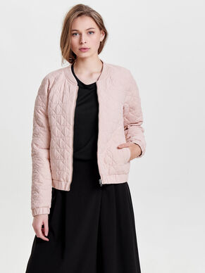 QUILTED BOMBER SHORT JACKET