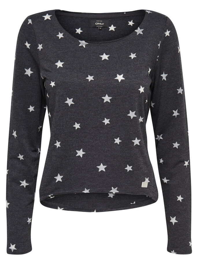 BEDRUCKTES SWEATSHIRT, Black, large