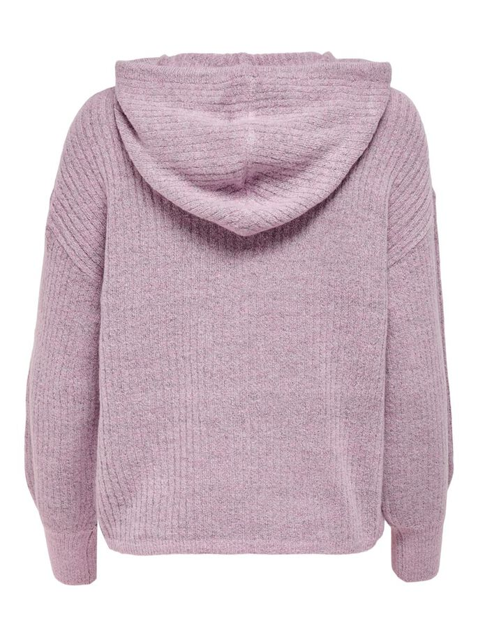LOOSE FITTED KNITTED PULLOVER, Orchid Pink, large