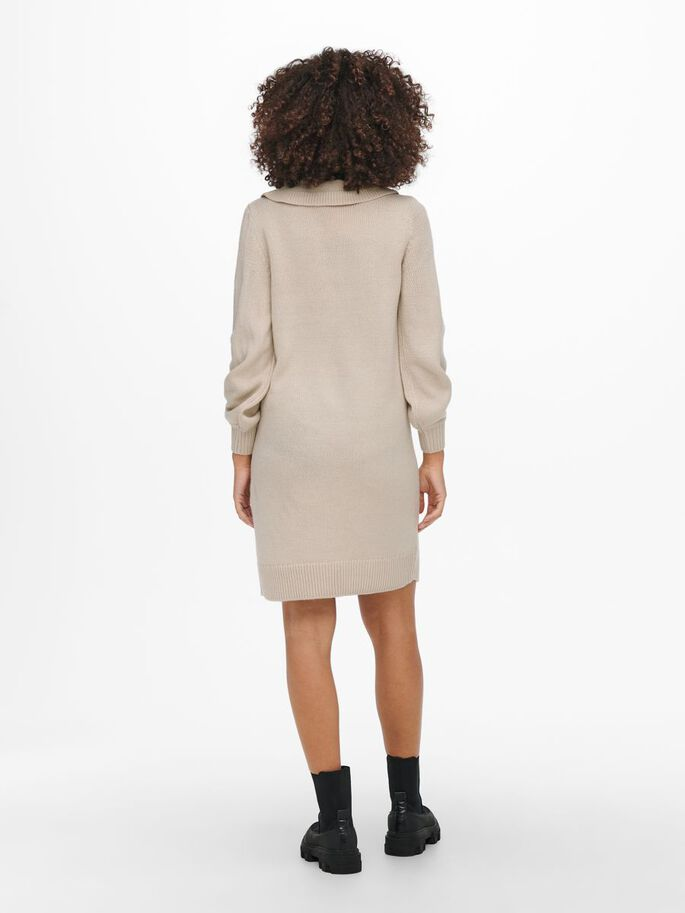 MAMA DETAILED KNITTED DRESS, Pumice Stone, large