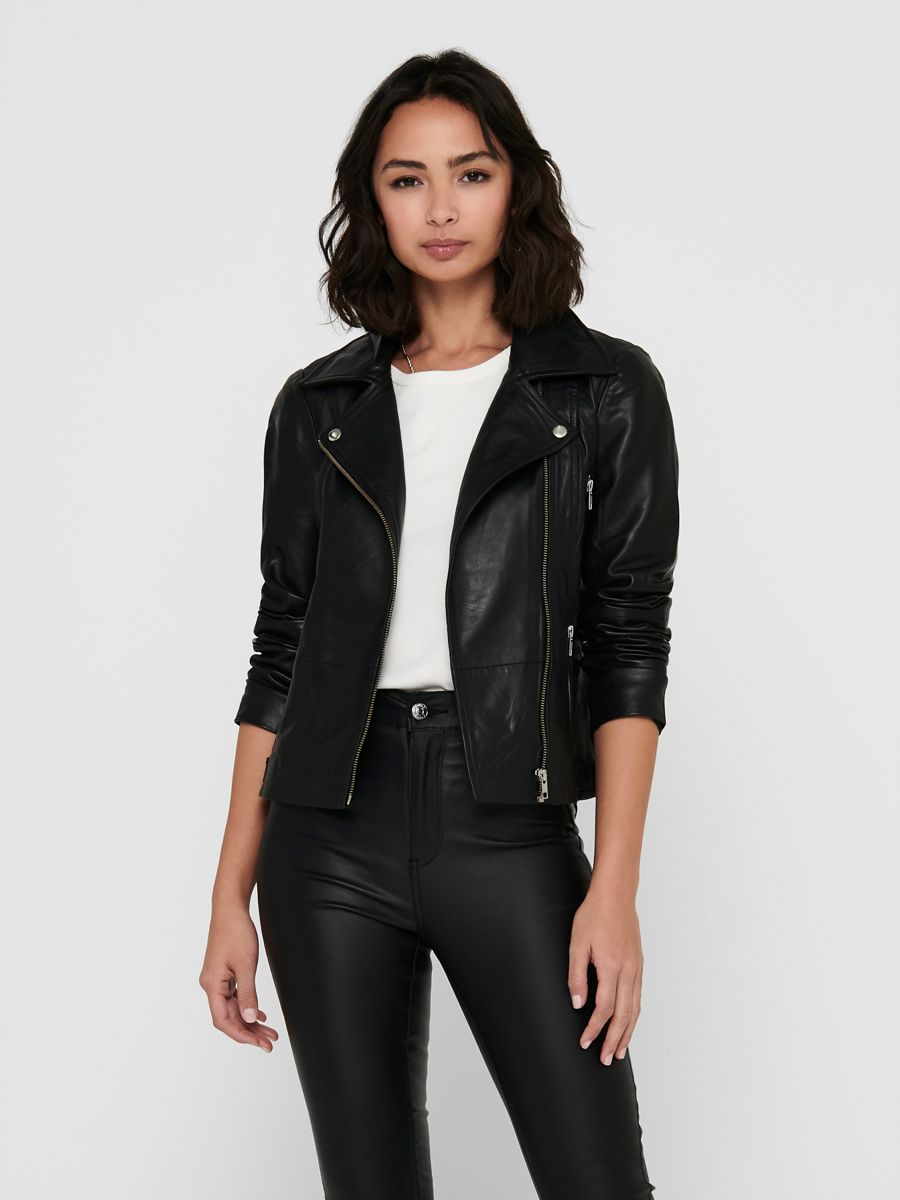 buying now special section on feet images of Biker leather jacket   ONLY