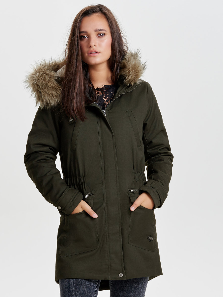 Long parka coat | ONLY